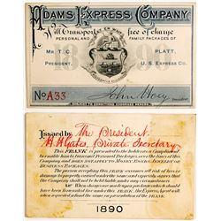 Adams Express Pass Certificate