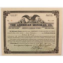 American Monorail Company  stock