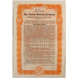 Apache Railway Company Bond