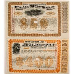 Atchison, Topeka & Santa Fe Gold Bond Script