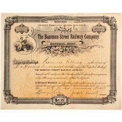 Bozeman Street Railway Company stock
