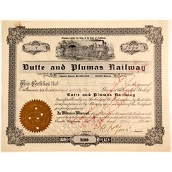 Butte and Plumas Railway