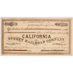 California Street Railroad Company