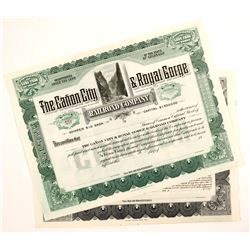 Canon City & Royal Gorge Railroad Co. Certificates (2)