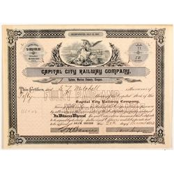 Capital City Railway Co Stock Cert.