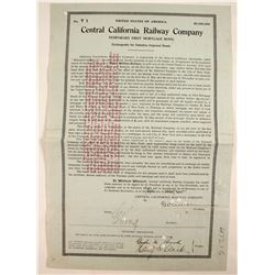 Central California Railway Co. - 1st Mortgage