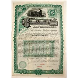 Coronado Railroad Co. Bond Certificate Specimen