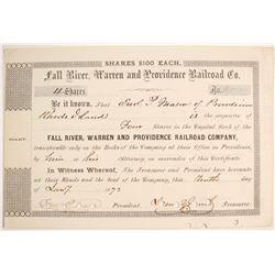 Fall River, Warren & Providence Railroad Co