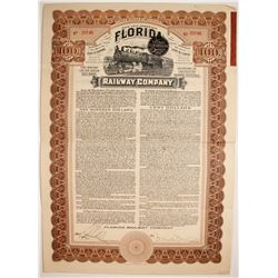 Florida Railway Company First Mortgage Gold Bond