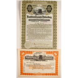 Frankford, Tacony & Holmesburg Street Railway Co. Stock and Bond
