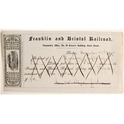 Franklin and Bristol Railroad stock