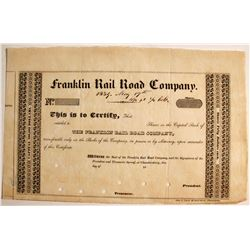 Franklin Rail Road Co Capital Stock