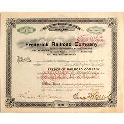 Frederick Railroad Company Capital Stock