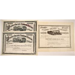 Fulton County Narrow Gauge (Extension) Railway Co. Non-issued Stocks
