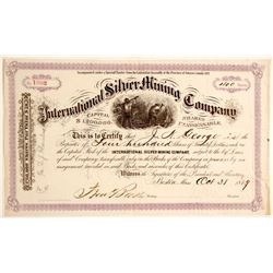 International Silver Mining Company Stock Certificate
