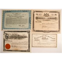 New York and Pennsylvania Based Railroads Stock Certificates