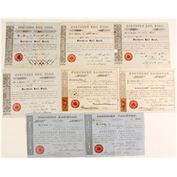 Northern Railroad Stocks with Revenue Stamps with Others (2)