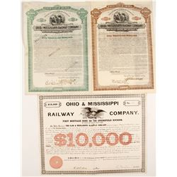Ohio & Mississippi Railway Company Bond Certificates