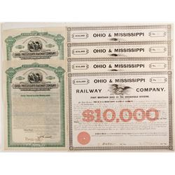 Ohio & Mississippi Railway Company Bond Certificates, 2 types