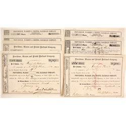 Providence, Warren and Bristol Railroad Company Stock Certificates