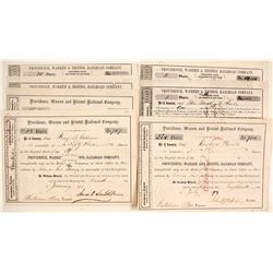 Providence, Warren and Bristol Railroad Company Stock Certificates