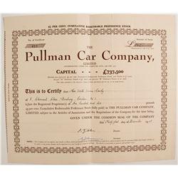 Pullman Car Company Stock Certificate