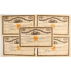 Rockford, Rock Island & St. Louis Railroad Company Stock C certificates