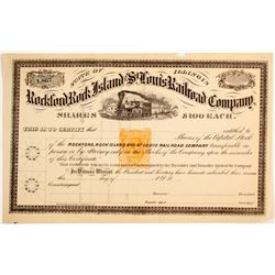 Rockford,Rock Island & St. Louis Railroad Company Stock Certificates