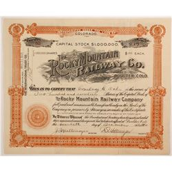 Rocky Mountain Railway Co  stock