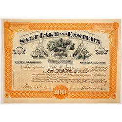 Salt Lake and Eastern Railway Co. stock