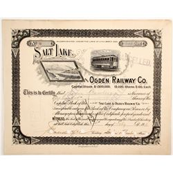 Salt Lake and Ogden Railway Co stock