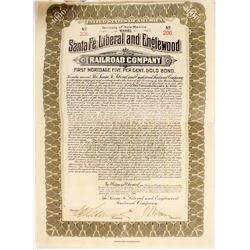 Santa Fe, Liberal and Englewood Railroad Co bond