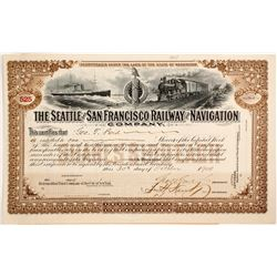 Seattle and San Francisco Railway and Navigation Co. stock