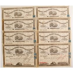 Second & Third Street Passenger Railway Company, (PA) Stock Certificates