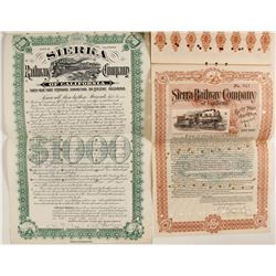 Sierra Railway Co of Calif Bonds (2)