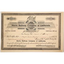 Sierra Railway Co of Calif stock