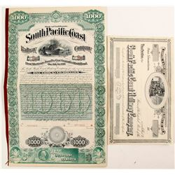 South Pacific Coast Railway Co. Stock/Bond