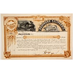 Southern California Railway Co  Stock