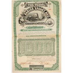 Texas, Sabine Valley and Northwestern Railway Co Bond