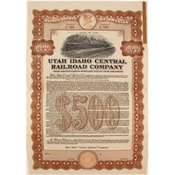Utah Idaho Central Railroad Co Bond