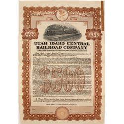 Utah Idaho Central Railroad Co Bond