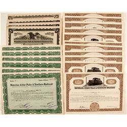 Waterloo, Cedar Falls & Northern Railroad Stock Certificates