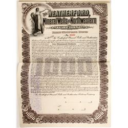 Weatherford, Mineral Wells and Northwestern Railway Co. bond
