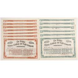Wichita Electric Railway and Light Company Stock Certificates