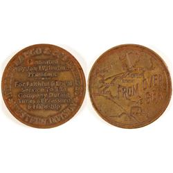 Wells Fargo & Co. Express Medal, Fantasy piece