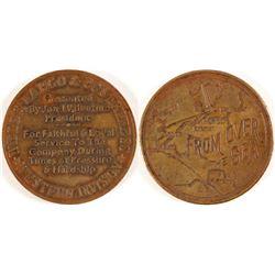 Wells Fargo & Co. Express Medal, Fantasy piece