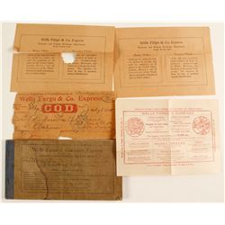 Wells Fargo Express Receipt Book and Ephemera