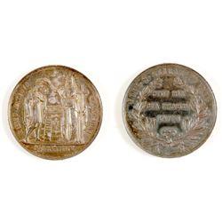US Mint Medal, Santa Clara College, CA
