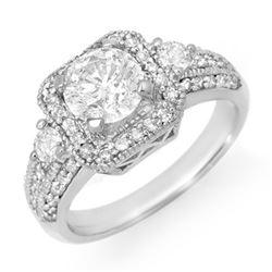2.0 CTW Certified VS/SI Diamond Ring 18K White Gold - REF-553Y5K - 14547