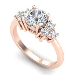 1.5 CTW VS/SI Diamond Solitaire Ring 18K Rose Gold - REF-409Y3K - 36939
